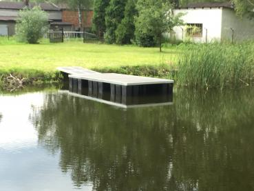 Floating dock 3 x 1.5 m aluminum, wood covering