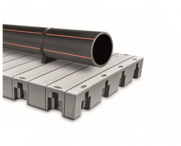 Swimming platform for pipe systems